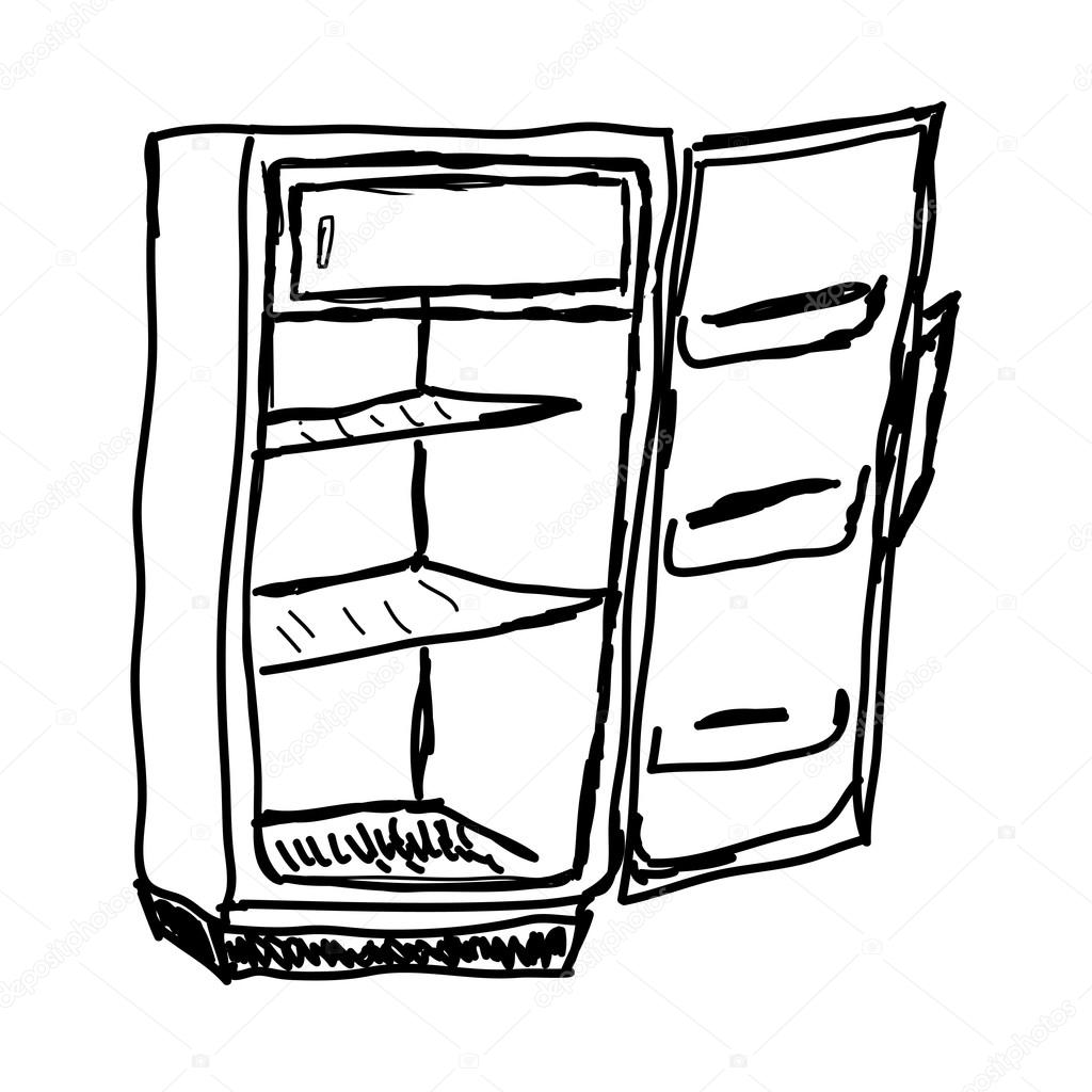 Empty Fridge Clipart