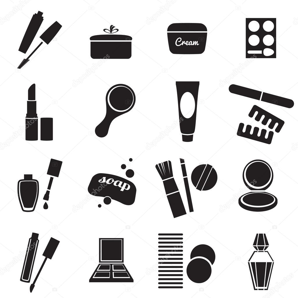 Conjunto De Iconos De Productos Cosmeticos