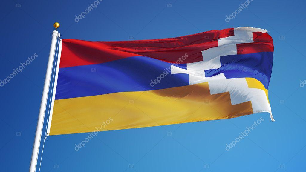 nagorno karabakh flag isolated