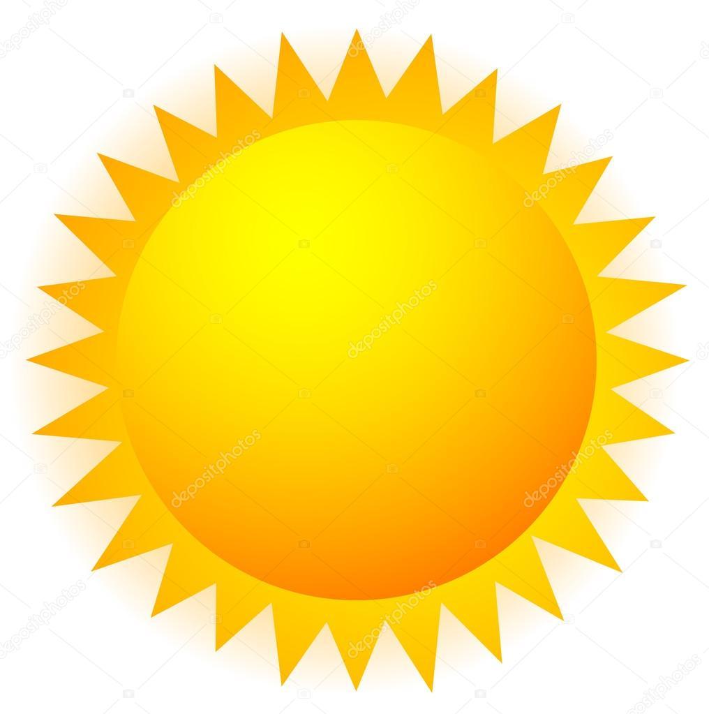 hight resolution of sun clip art sign stock vector
