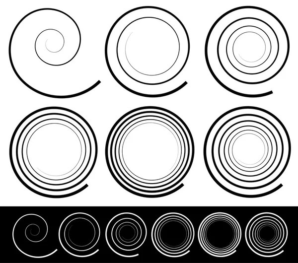 Set of spiral shapes — Stock Vector © vectorguy #140889274