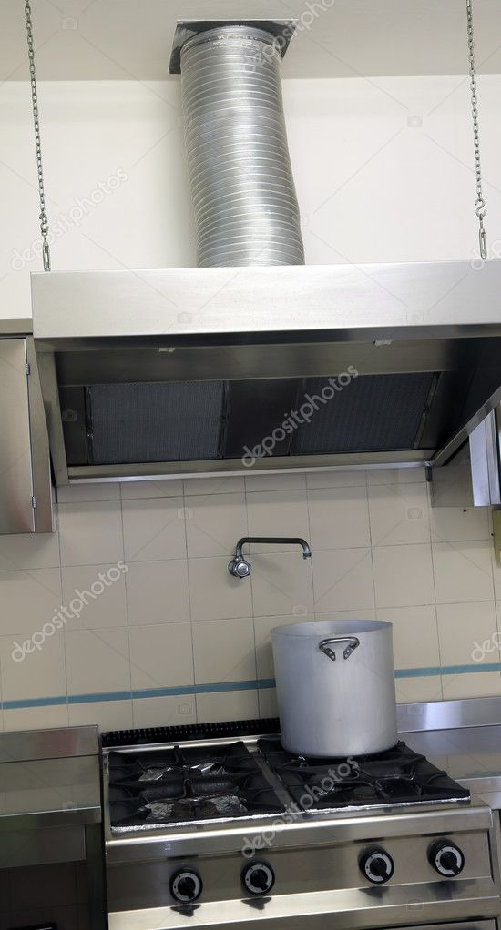 industrial kitchen cooker with exhaust hood stock photo image by c chiccododifc 80401664