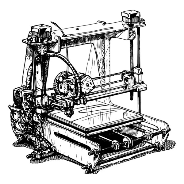 Printing Press — Stock Vector © RetroClipArt #55671739