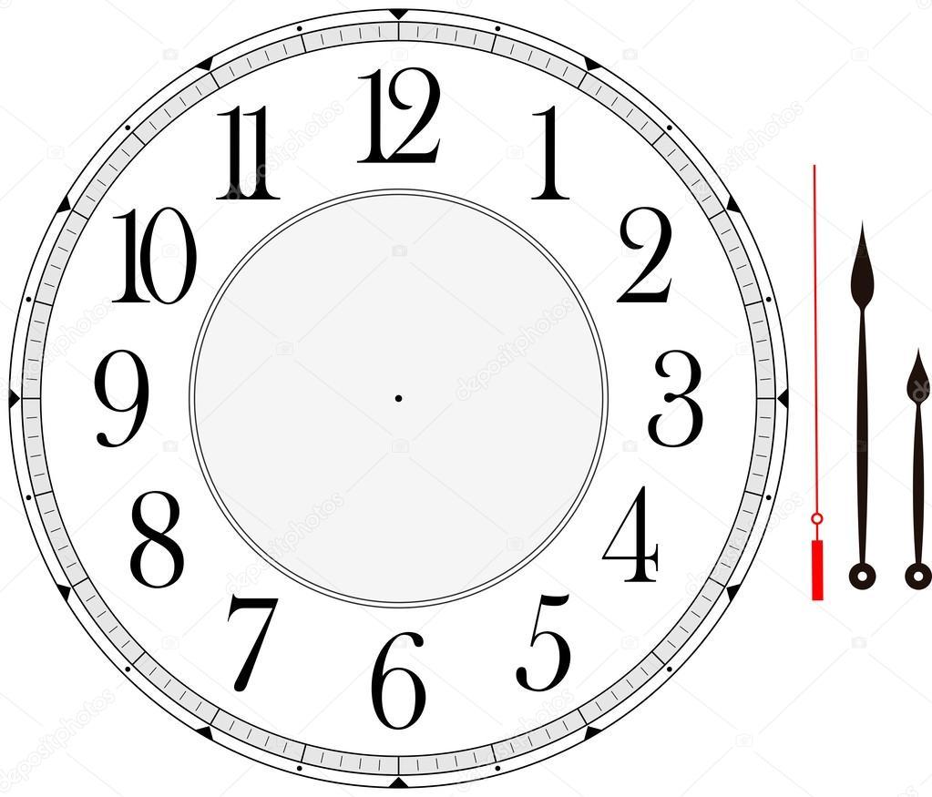 hodinový ciferník — Stock Vektor © hayaship #53545759