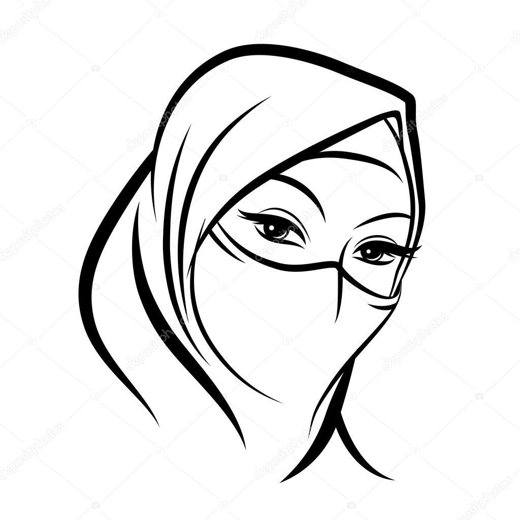 Arab Muslim Woman Face