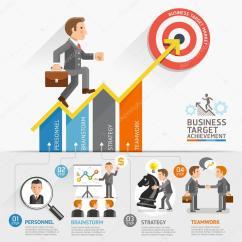 Workflow Diagram Template Shunt Trip Coil Business Growth Arrow Strategies Concept. Businessman Walking On Arrow. — Stock Vector ...
