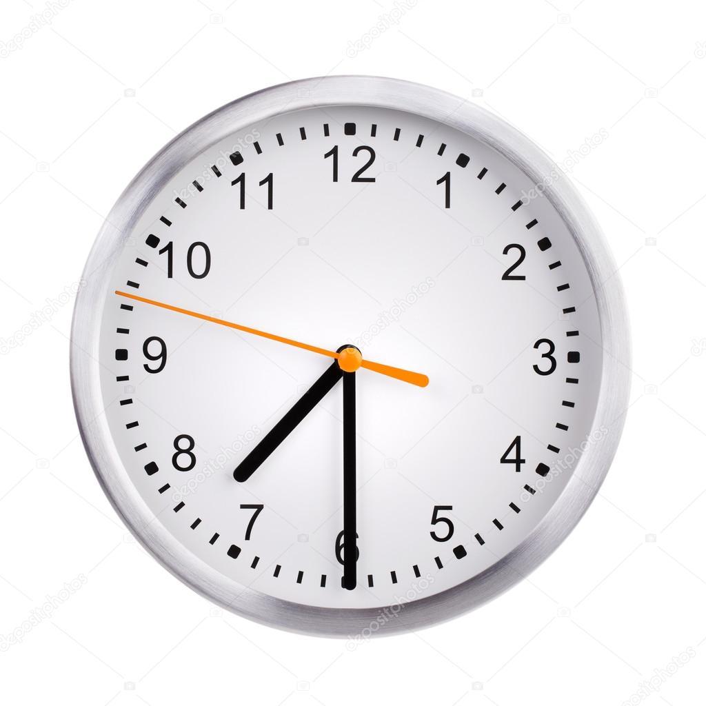 reloj redondo muestra 7