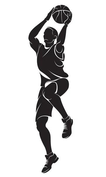 Jump Shoot Bola Basket : shoot, basket, Shoot, Vektor,, Ilustrasi, Bebas, Royalti, Depositphotos®