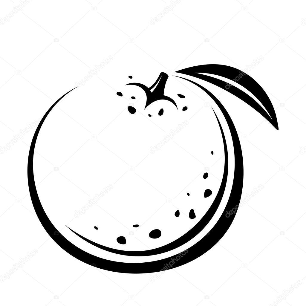 Orange Black And White Vector Art
