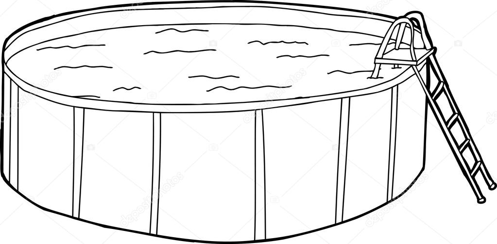 Above Ground Pool Outline — Stock Vector © theblackrhino