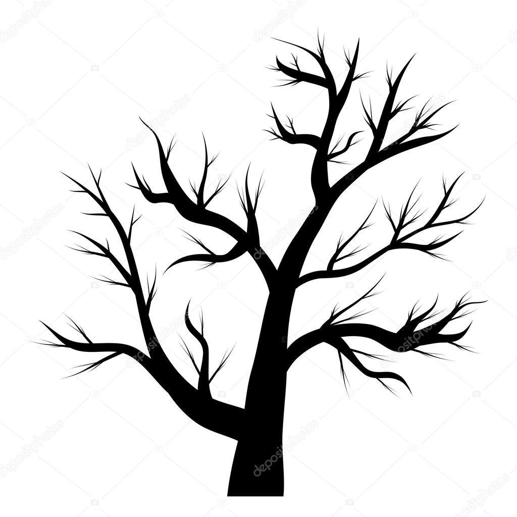 Baum ohne Blätter — Stockvektor #53394037