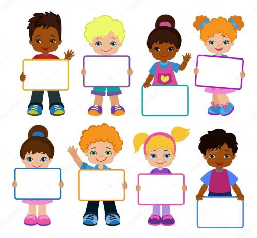 small resolution of child meeting frame white board vector by sandylevtov