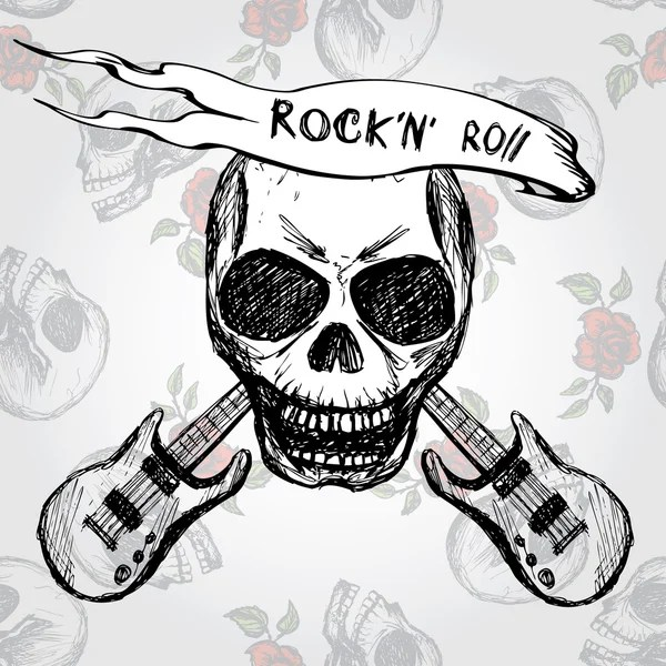 Imgenes rock  Guitarra del crneo de rock and roll