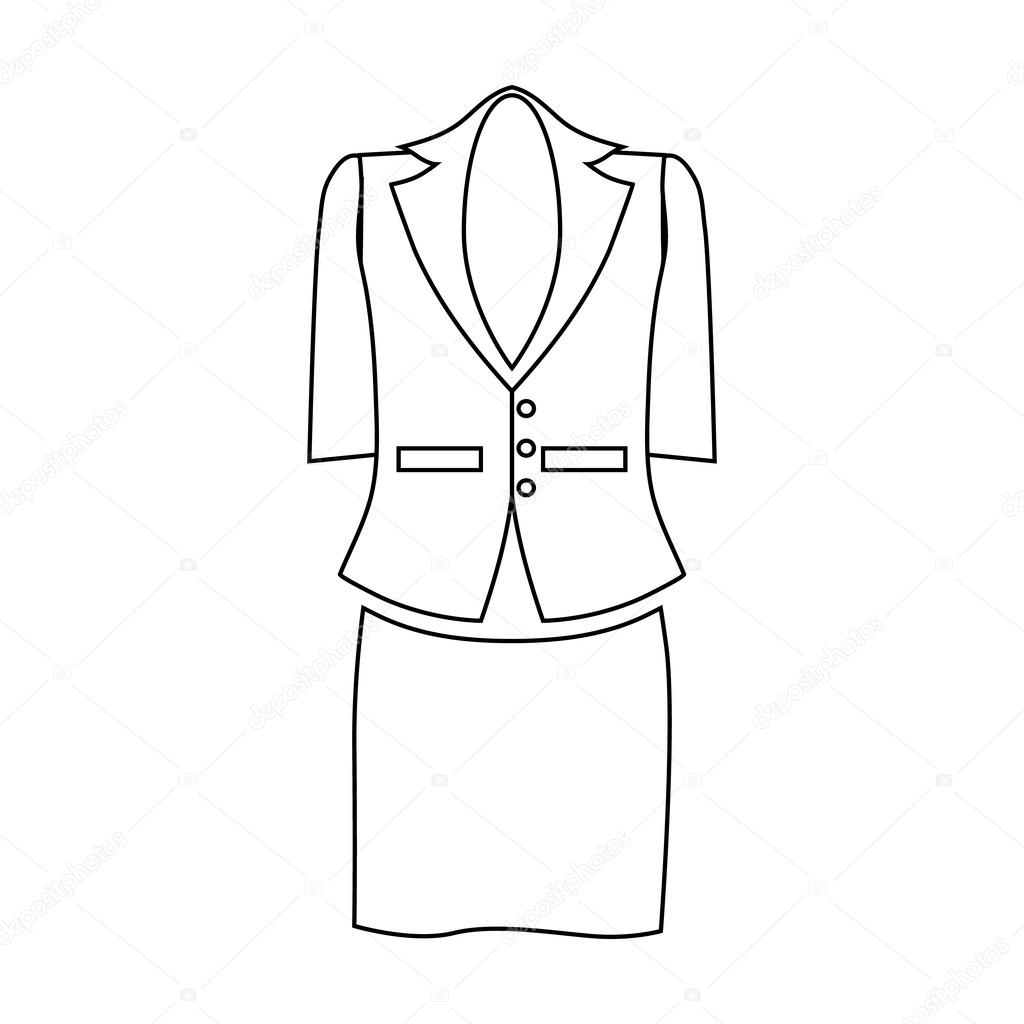La S Suit For Business Women Icon Outline Style