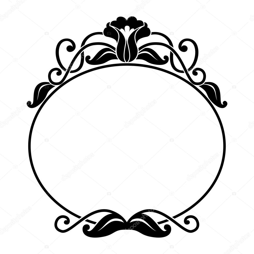 Floral Frame Stock Vector Illustration Of Oval Isolated