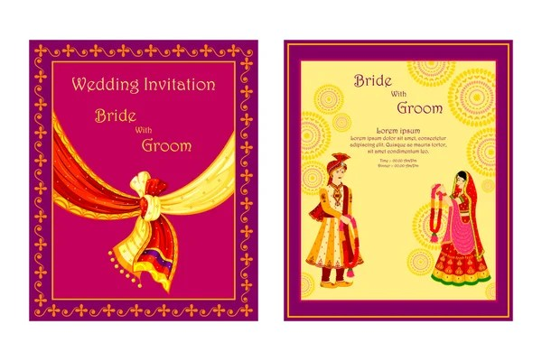 indian wedding card vector images