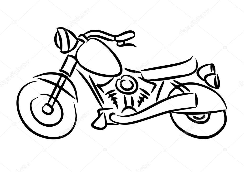 The chopper motorcycle — Stock Vector © jiri_solecito