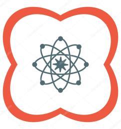 atom model icon stock vector [ 1024 x 1024 Pixel ]