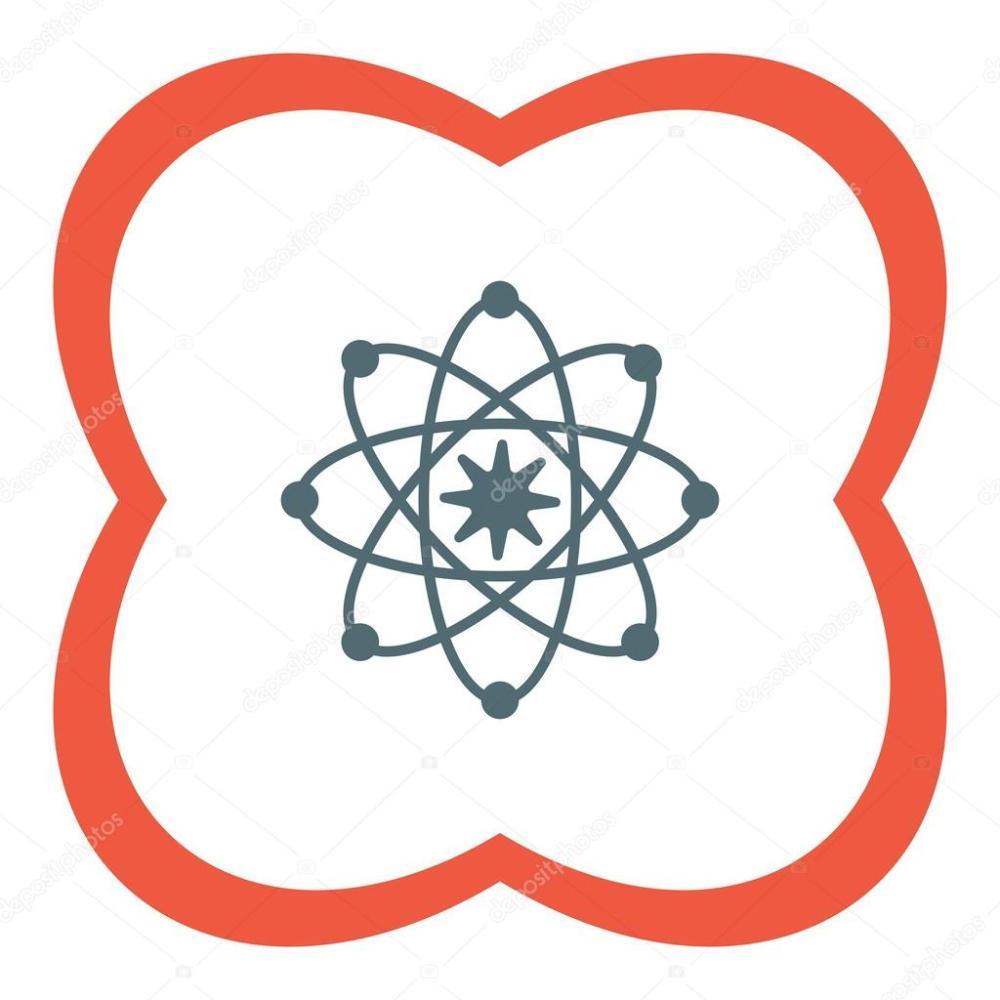 medium resolution of atom model icon stock vector