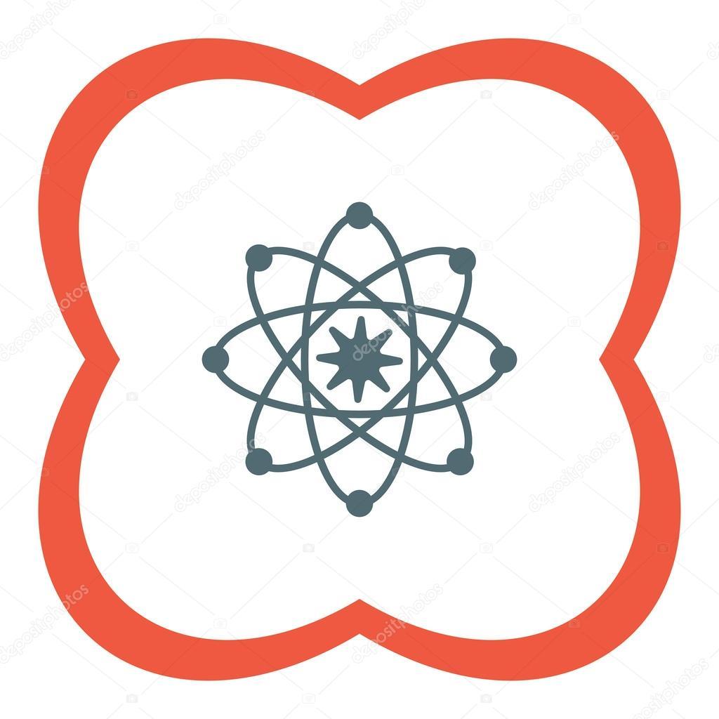 hight resolution of atom model icon stock vector