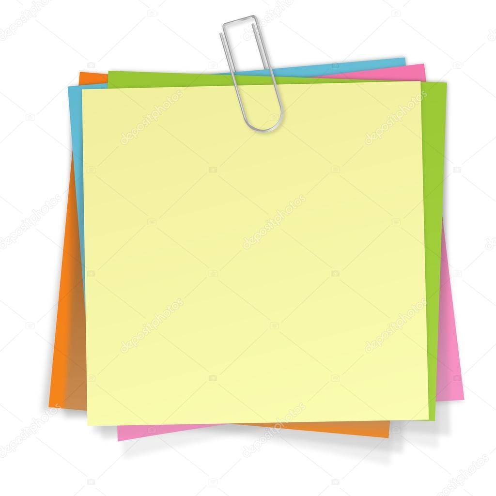 notas com clipe de papel  Vetor de Stock  opicobello