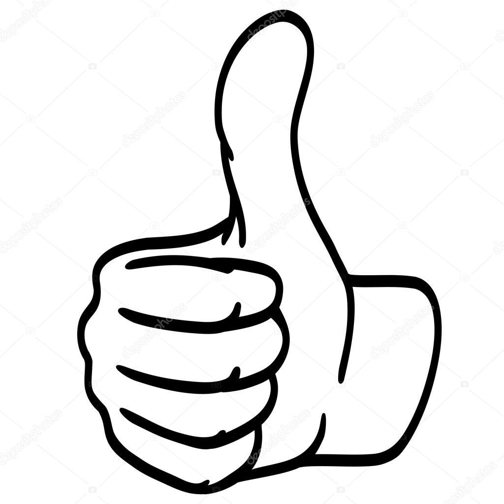 Thumbs up silhouette  Stock Vector  opicobello 87476846