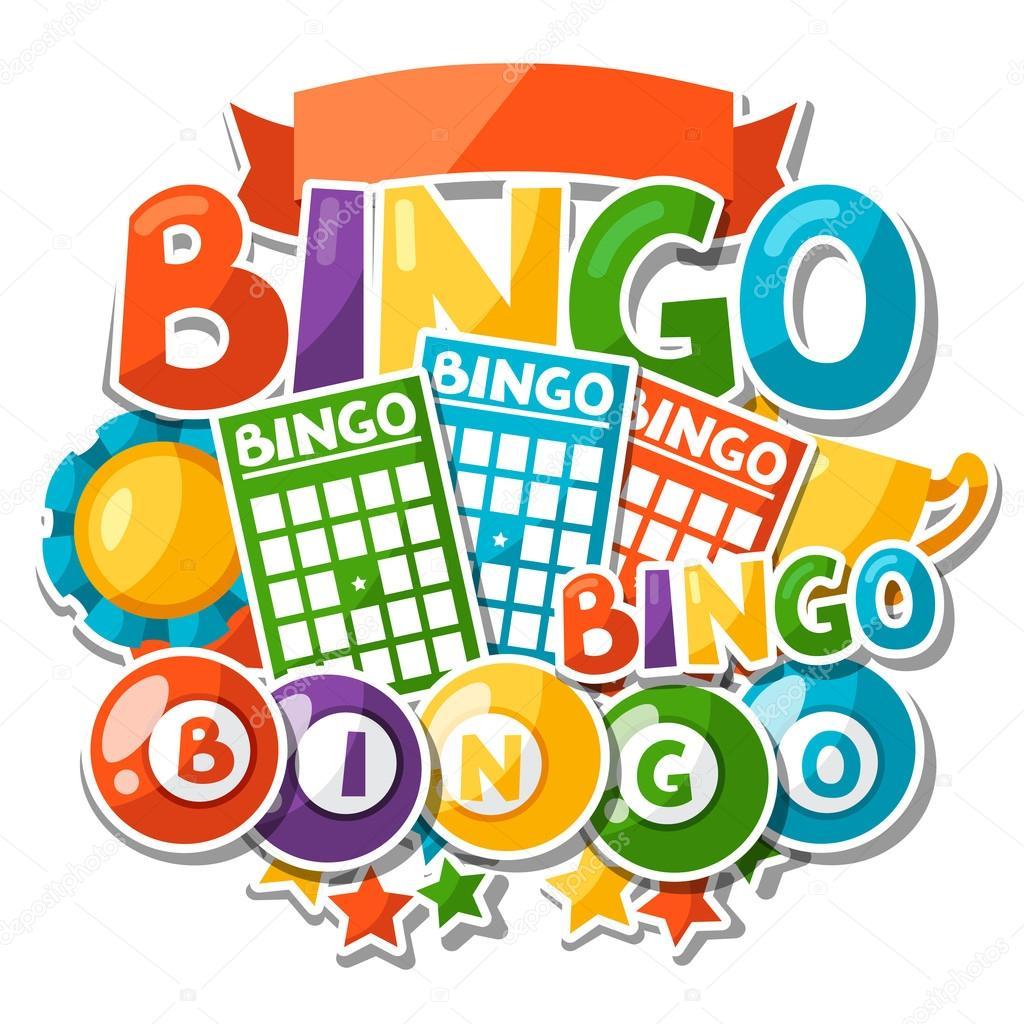 Fondo Juego Bingo O Lotera Con Bolas Y Cartas Archivo