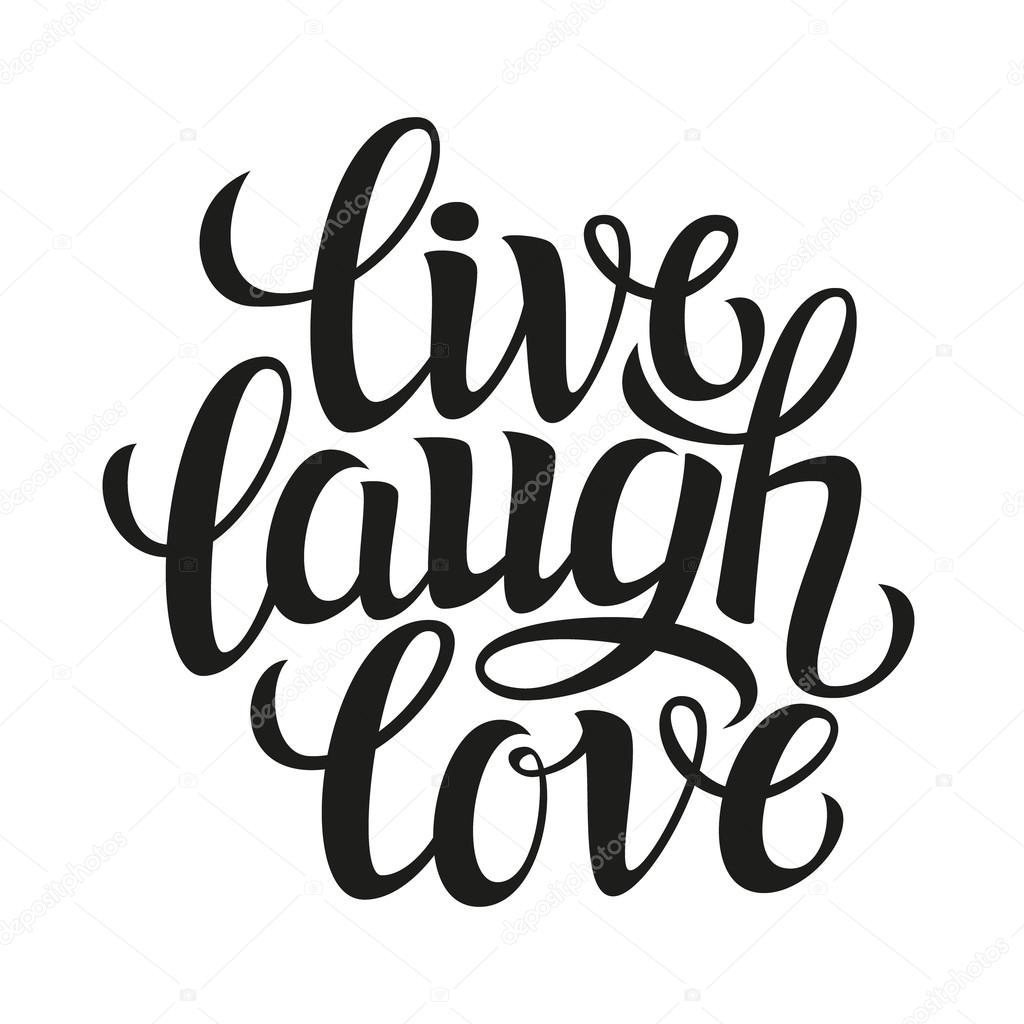 Download Hand drawn typography poster 'live laugh love' — Stock ...