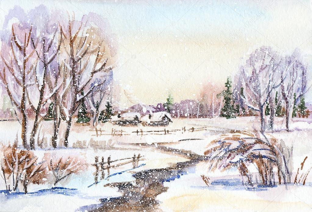 Paesaggio invernale russo  Foto Stock  OSHI 88686634