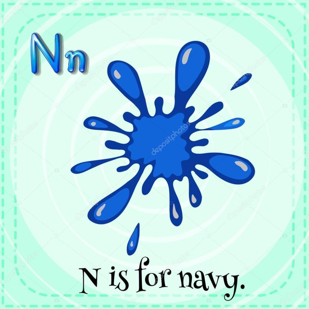 medium resolution of a letter n for navy stock vector 62245839