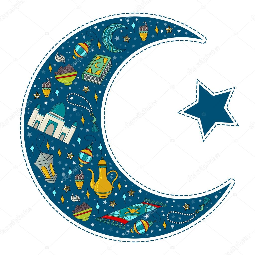 Muslim Moon And Crescent Symbol