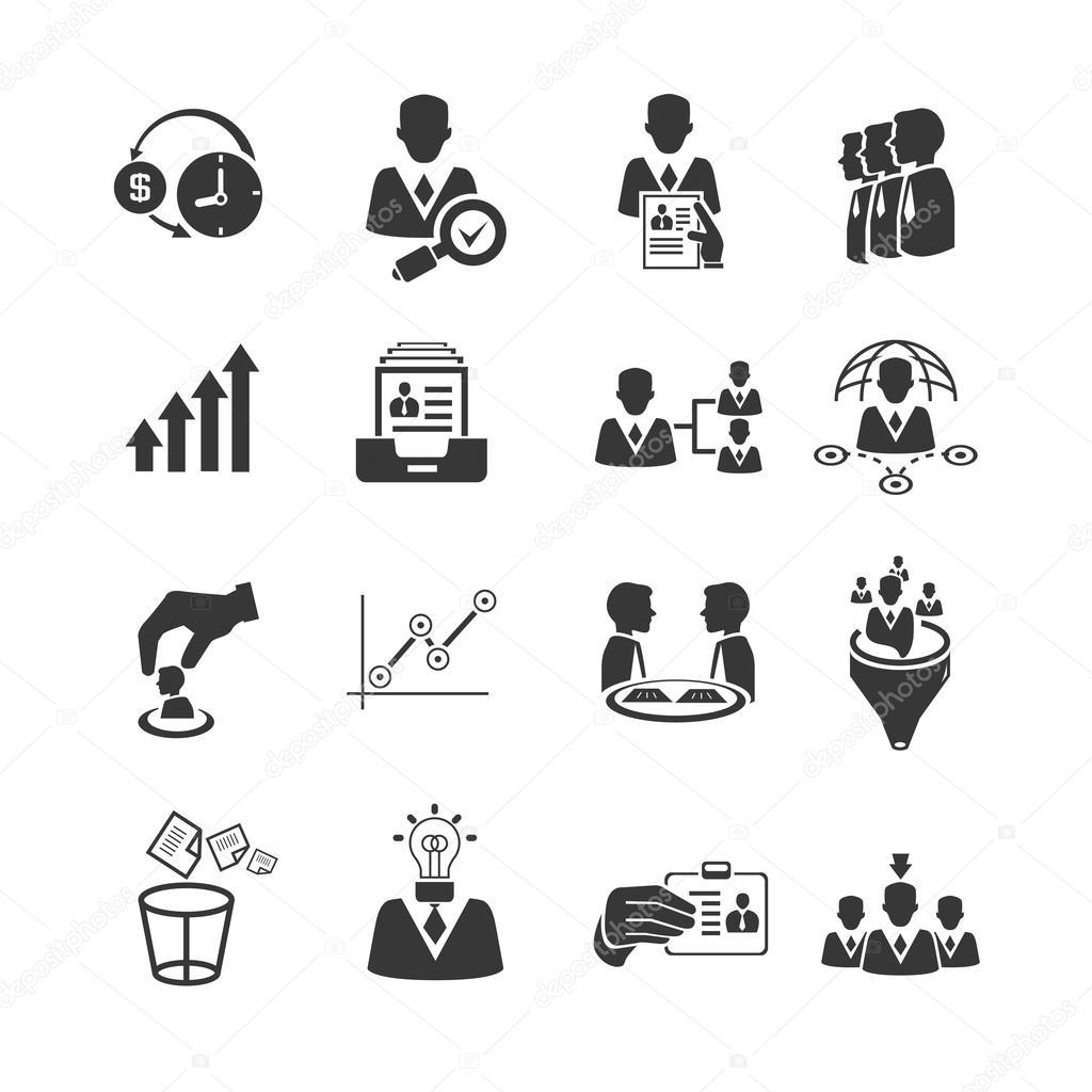 人材育成とビジネス管理のアイコン — ストックベクター © loopang #107677974
