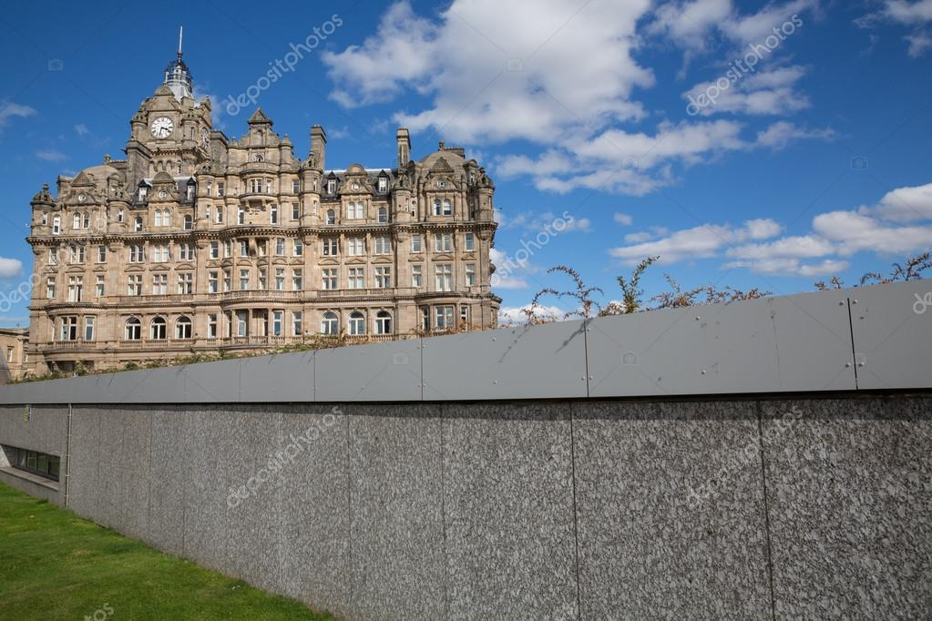 Wall And Balmoral Hotel In Edinburgh Scotland United