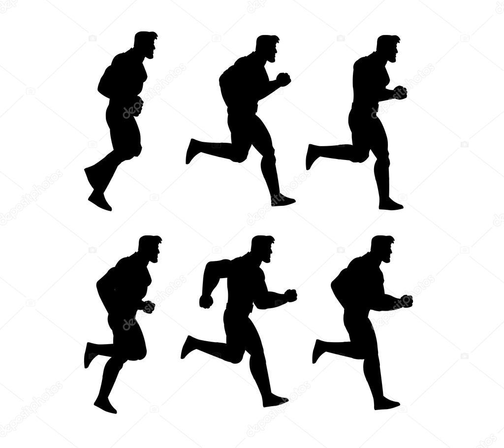 Running Man Silhouette Animation Sprite