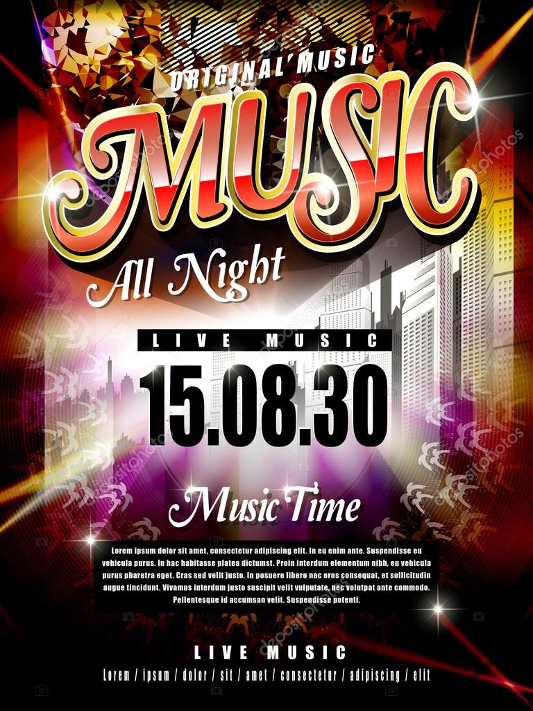 modern music festival poster design template u2014 stock