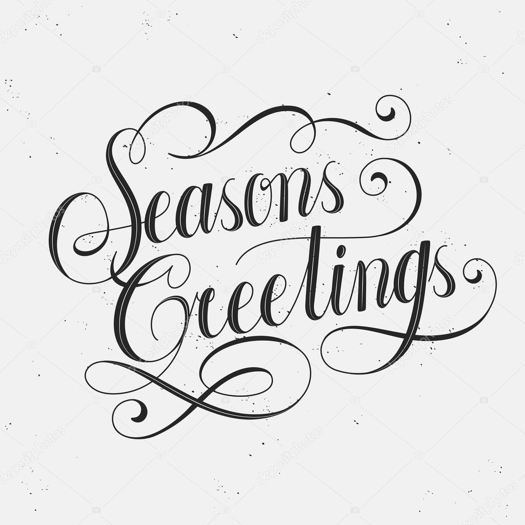 seasons greetings calligraphy — Stock Vector © kchungtw