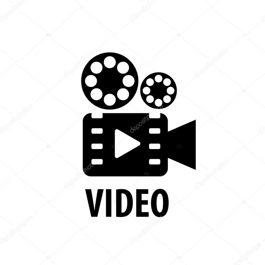 Vector logo videocámara — Vector de stock © artbutenkov