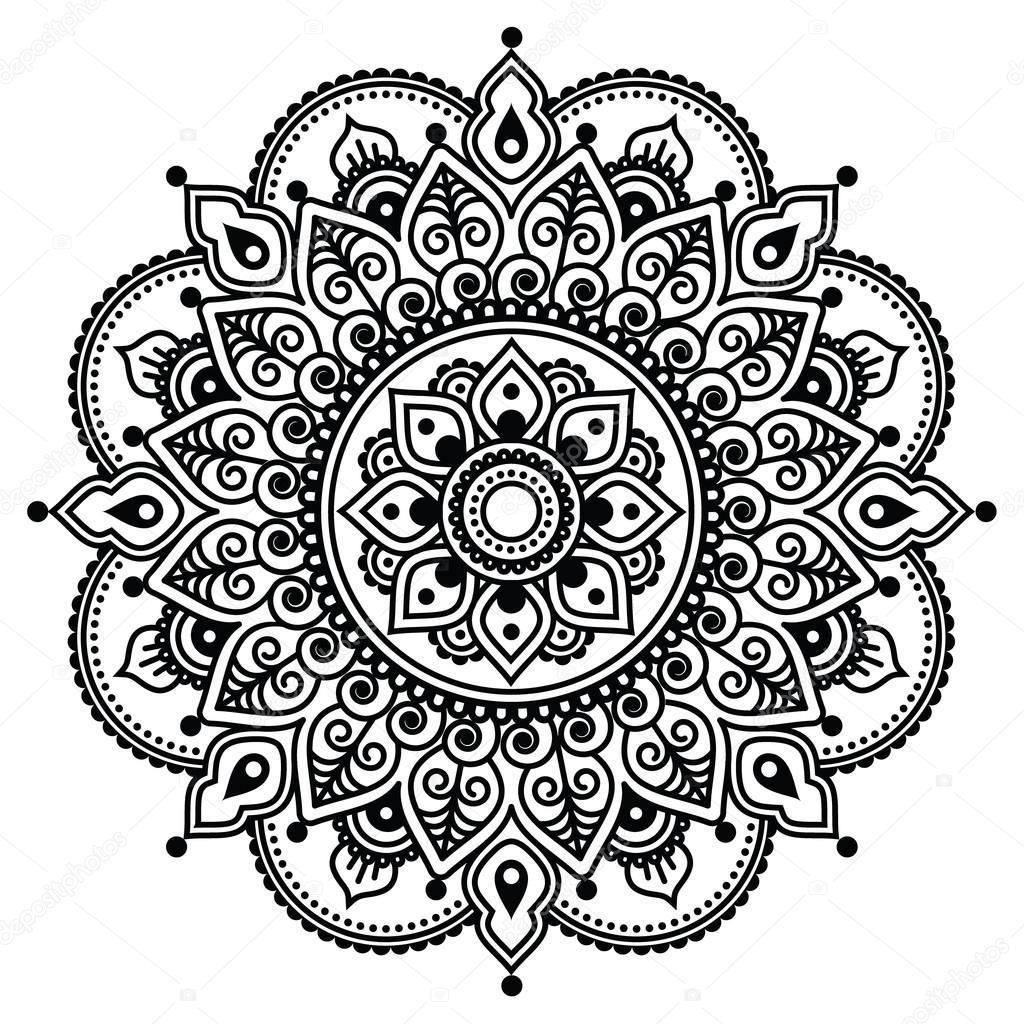 Mehndi, indische Henna Tätowierung Muster oder Hintergrund