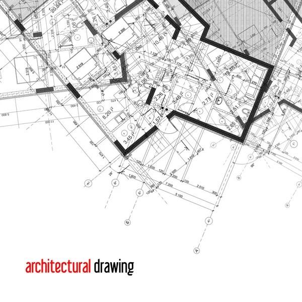 Architecture plan guide illustration design — Stock Photo