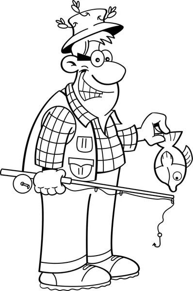 Cartoon visser — Stockvector © kenbenner #75436761