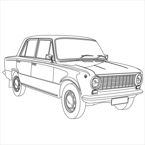 Suv car outline vector — Stock Vector © attaphongw #21777155