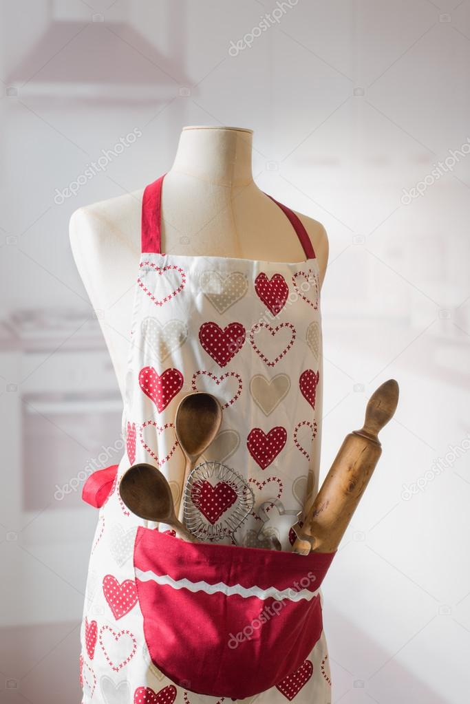 kitchen aprons cabinet door knobs 用器皿厨房围裙 图库照片 c springfield 90973348