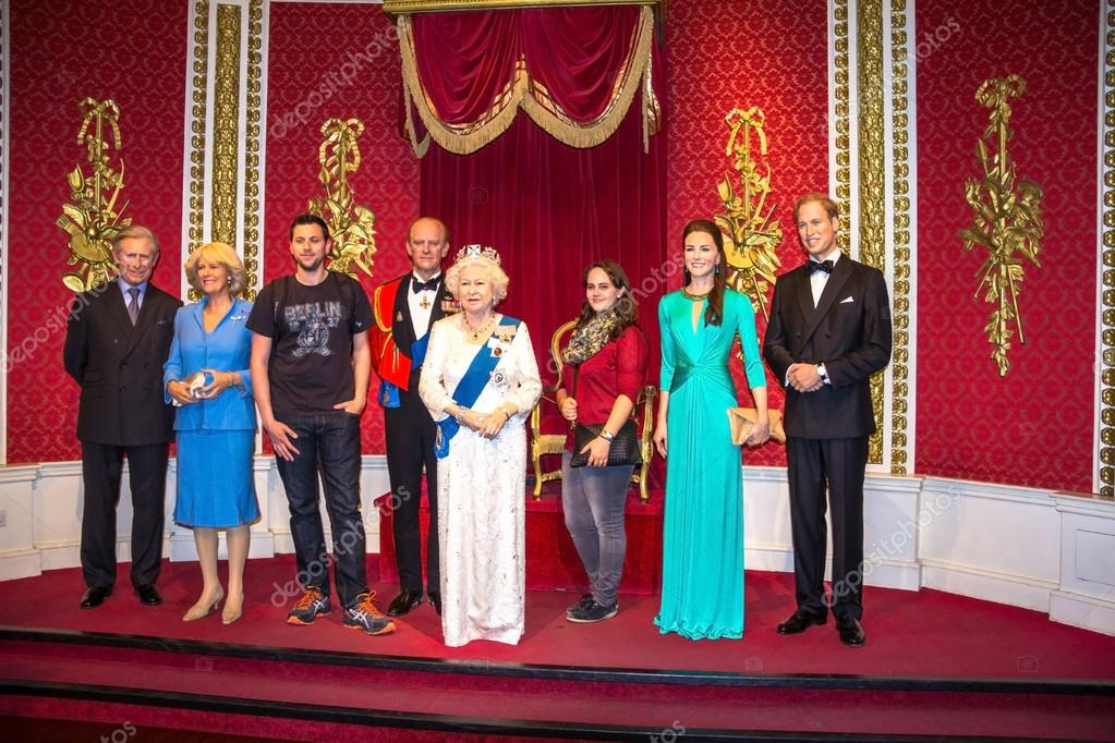 The British Royal Family Wax Figures At Madame Tussauds