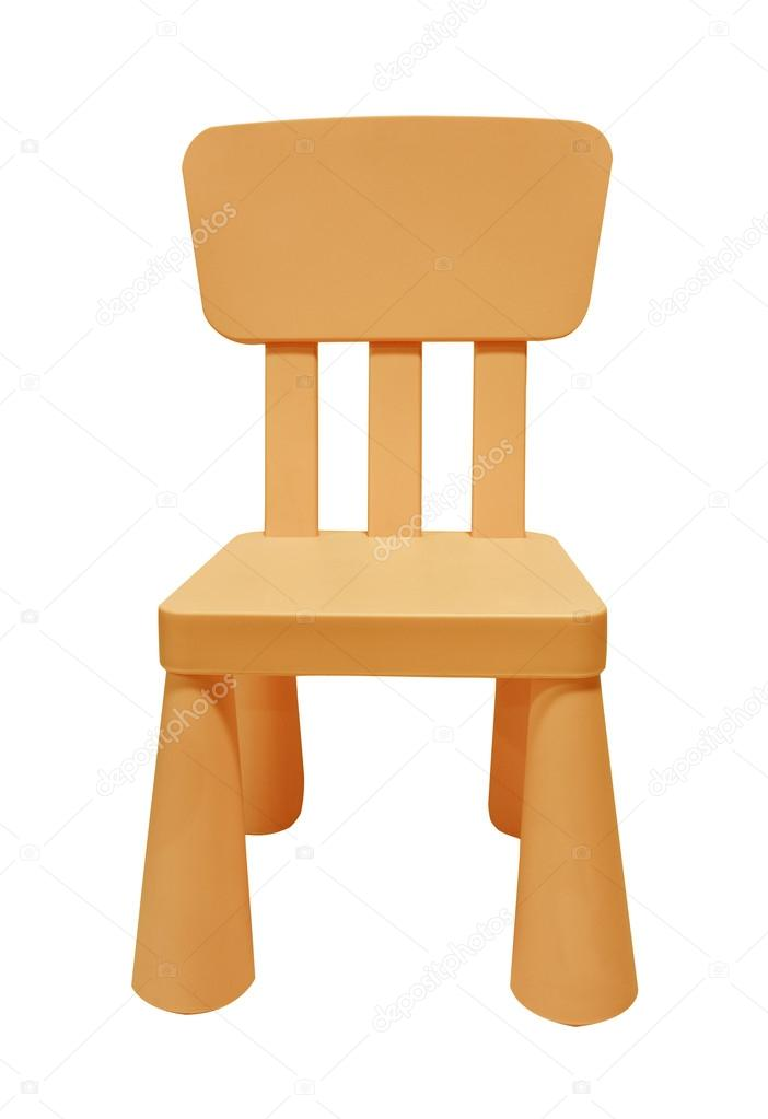 toddler plastic chairs foldable beach chair orange children isolated on white stock photo