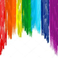 Art rainbow brush abstract color background  Stock Vector ...