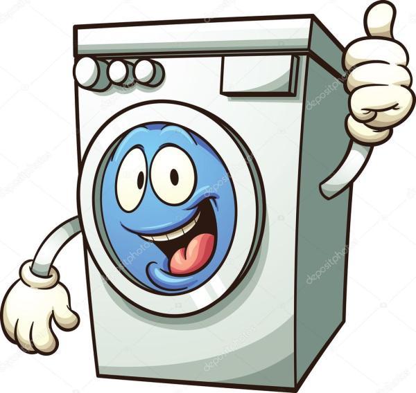 clipart happy washing machine