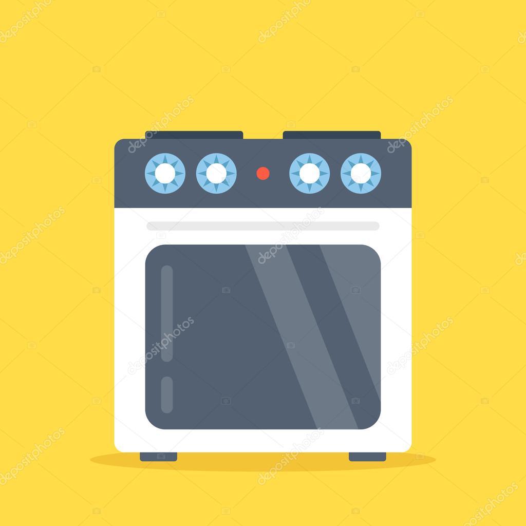 electric kitchen stove shelving for pantry 炉子的向量 白色的电动厨房灶具与隔离在黄色背景上的烤箱 平面设计矢量 白色的电动厨房灶具与隔离在黄色背景上的
