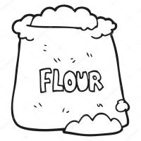 saco preto e branco dos desenhos animados de farinha ...