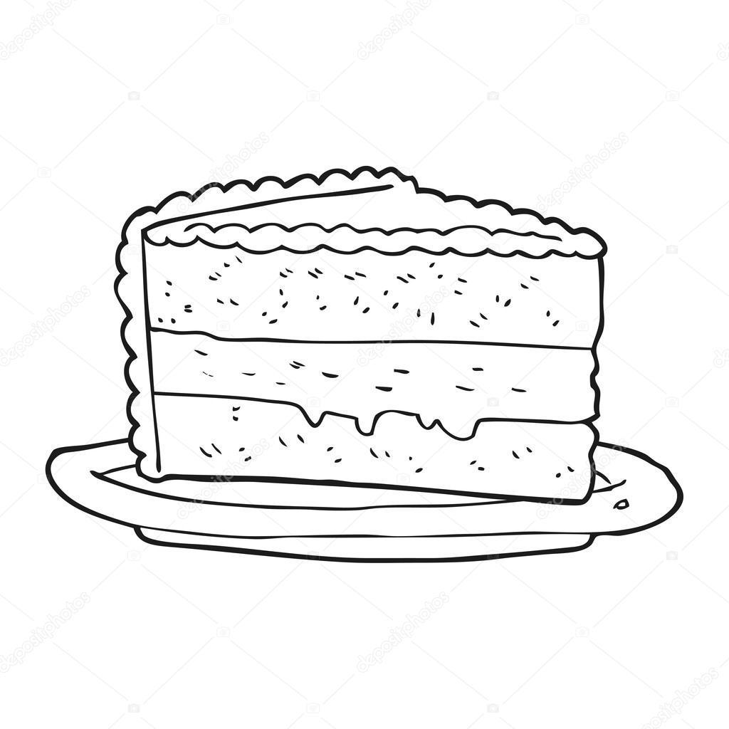 Black And White Cartoon Pictures Food Dessert Pictures To