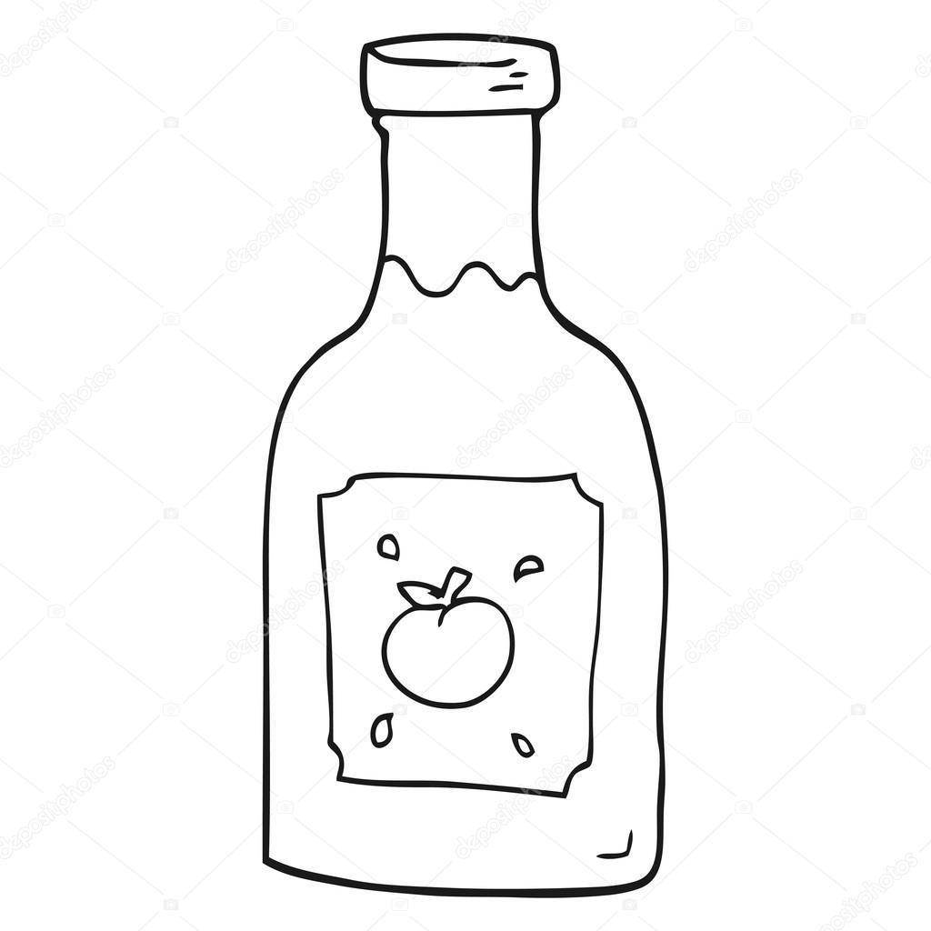 Salsa De Tomate De Dibujos Animados Blanco Y Negro
